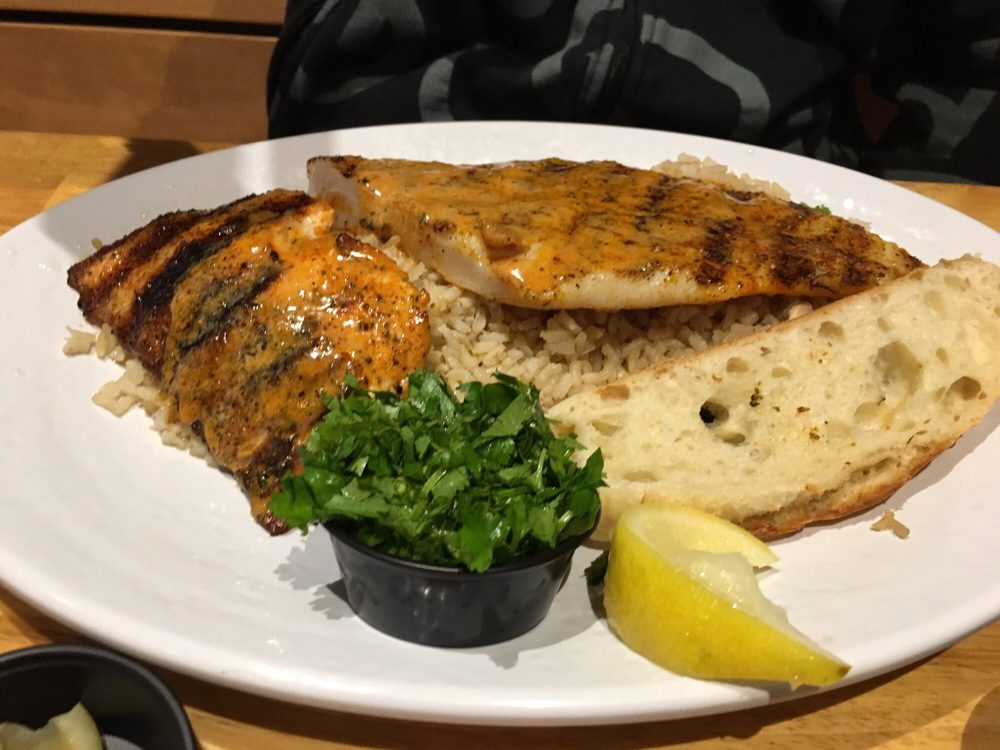 Swai and salmon combo yelp for California fish grill locations