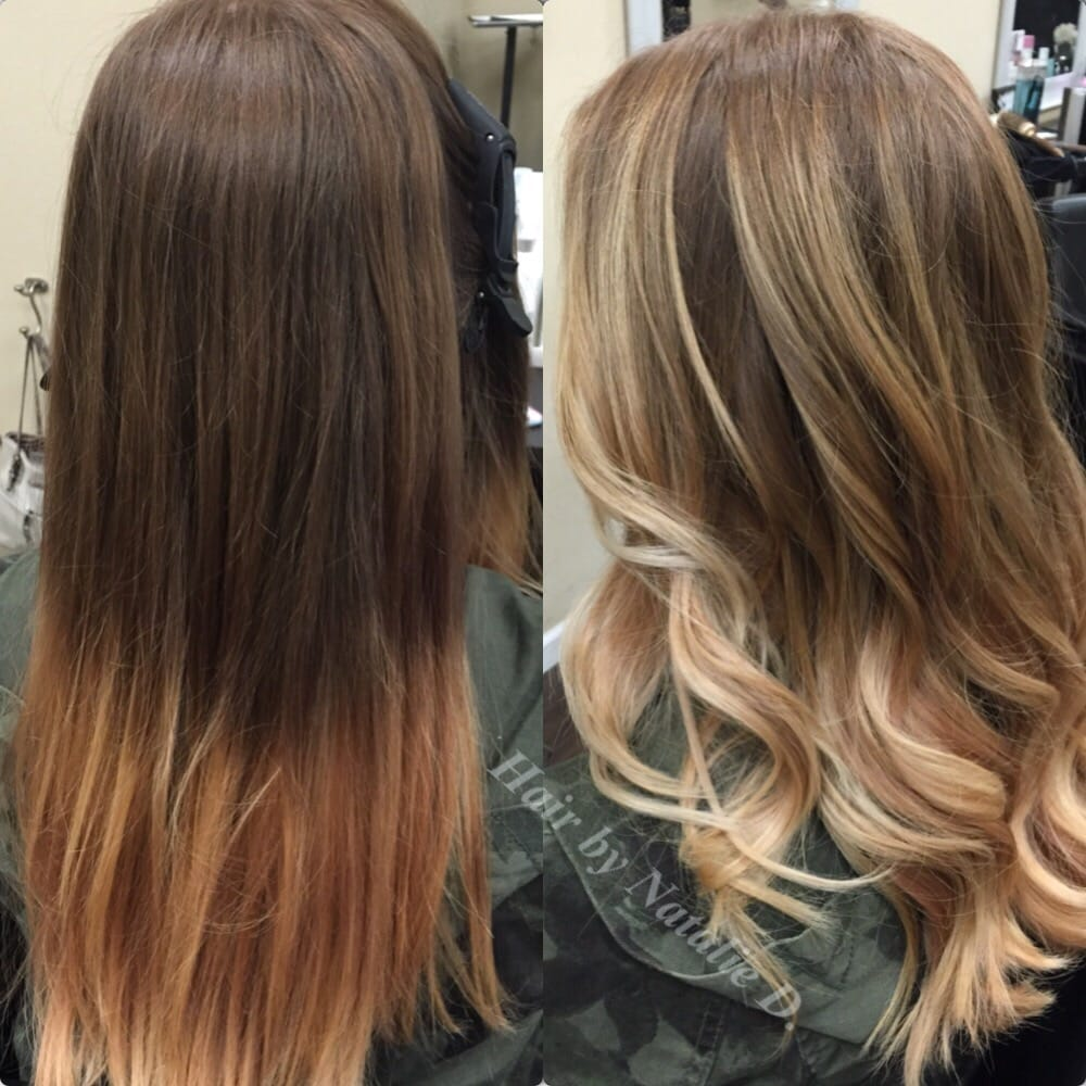 Before And After Balayage Highlights By Natalie D Yelp