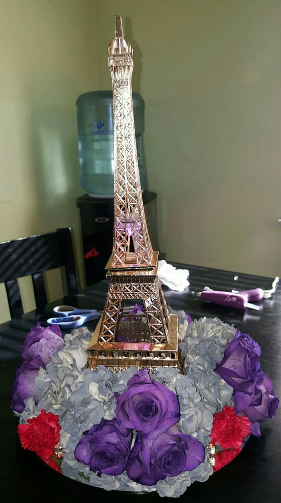 Eiffel tower centerpiece for a quinceanera yelp