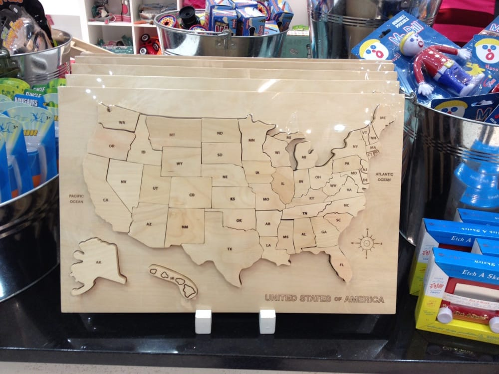 Wooden Puzzle Of The Us Yelp