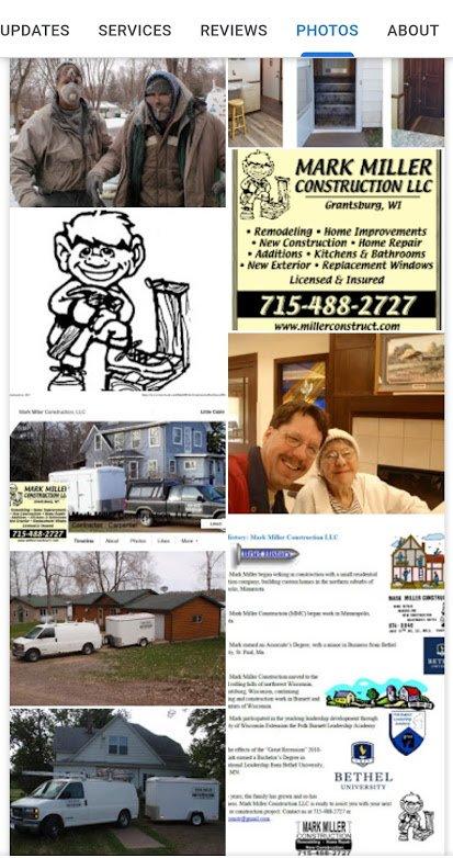 Mark Miller Construction: 20708 Medchill Rd, Grantsburg, WI