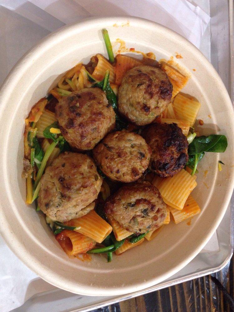 angry pasta bowl with pork meatballs - yelp