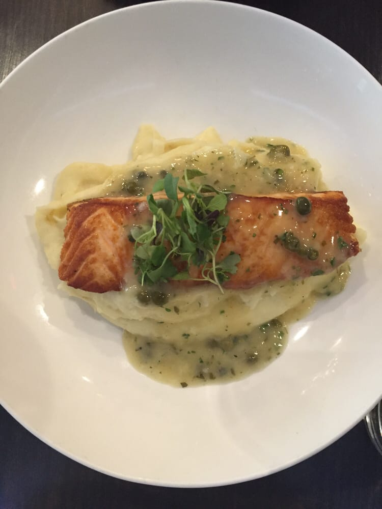 Pan seared salmon yelp for Fish restaurant stamford ct