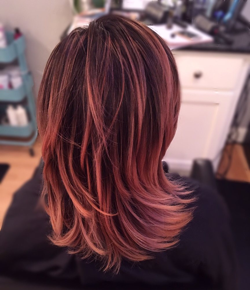 Rose Gold Balayage Hair Color By Chanel Darjean Yelp