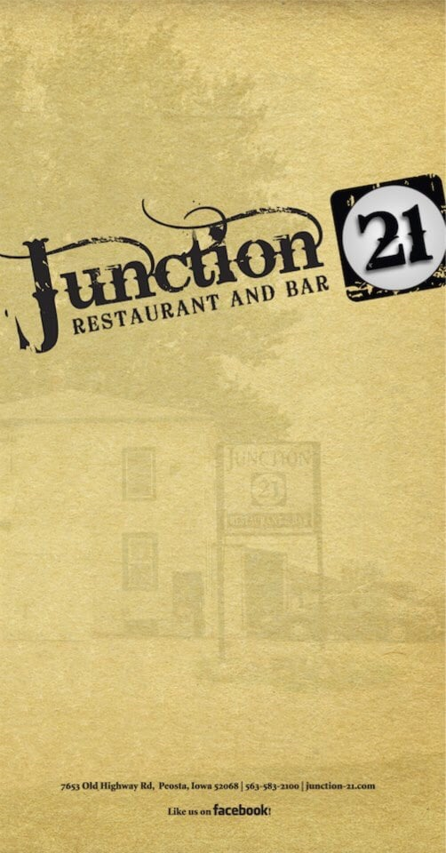 Junction 21 Restaurant & Bar: 7653 Old Highway Rd, Peosta, IA