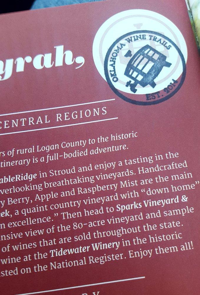 Sparks Vineyard & Winery: 351310 E 970th Rd, Sparks, OK