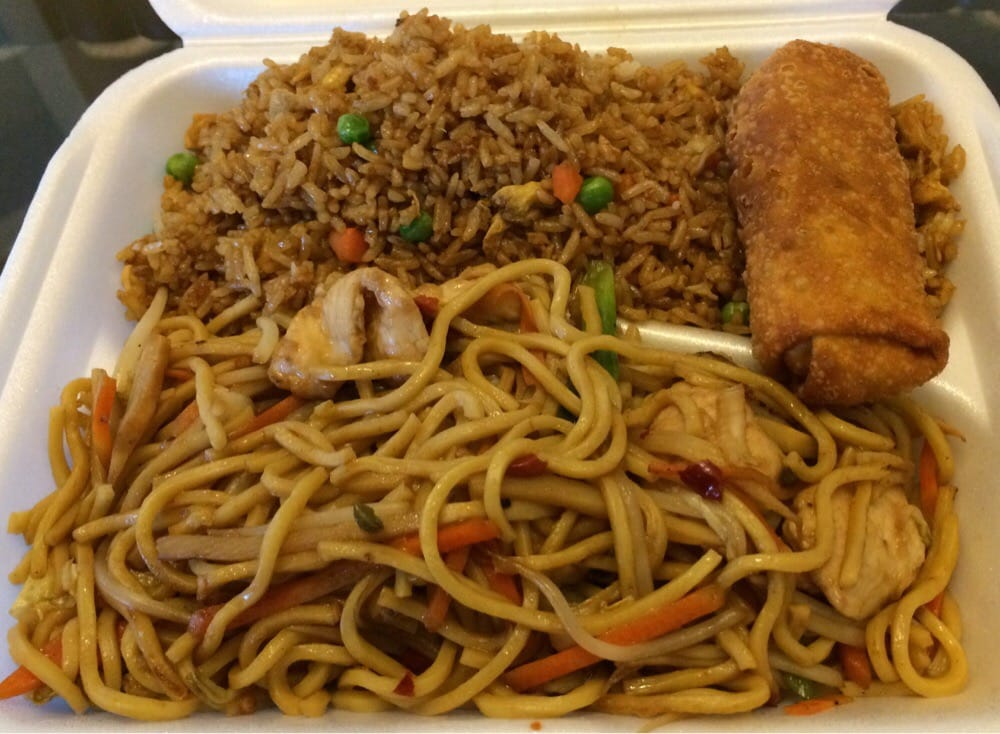 seventh spot: Chow mein for lunch.