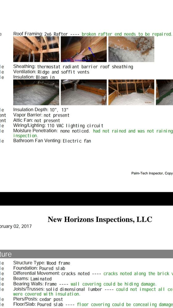 New Horizons Inspections