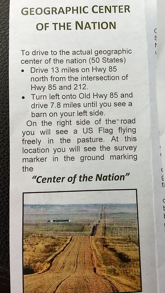 True Center of the Nation: Old Highway 85, Belle Fourche, SD