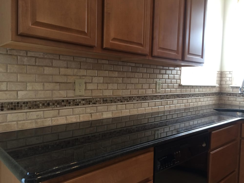 This Kitchen Backsplash Is Travertine Subway Tile With A