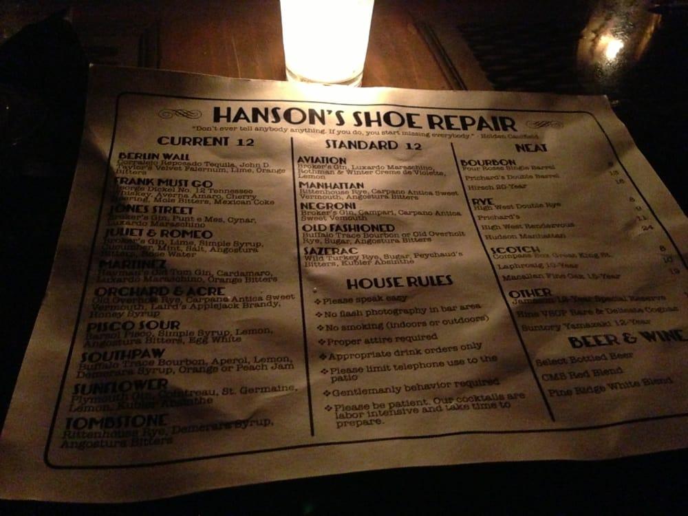 Hanson S Shoe Repair Food