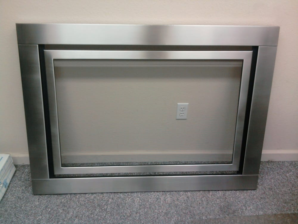 "Photo of All Spec Sheet Metal - ""Stainless Steel Vented Fireplace surround."" - Pittsburg"