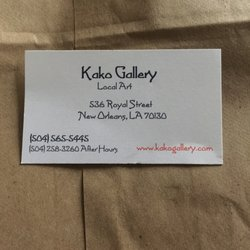 Kako gallery 28 photos art galleries 536 royal st french photo of kako gallery new orleans la united states business card reheart Images