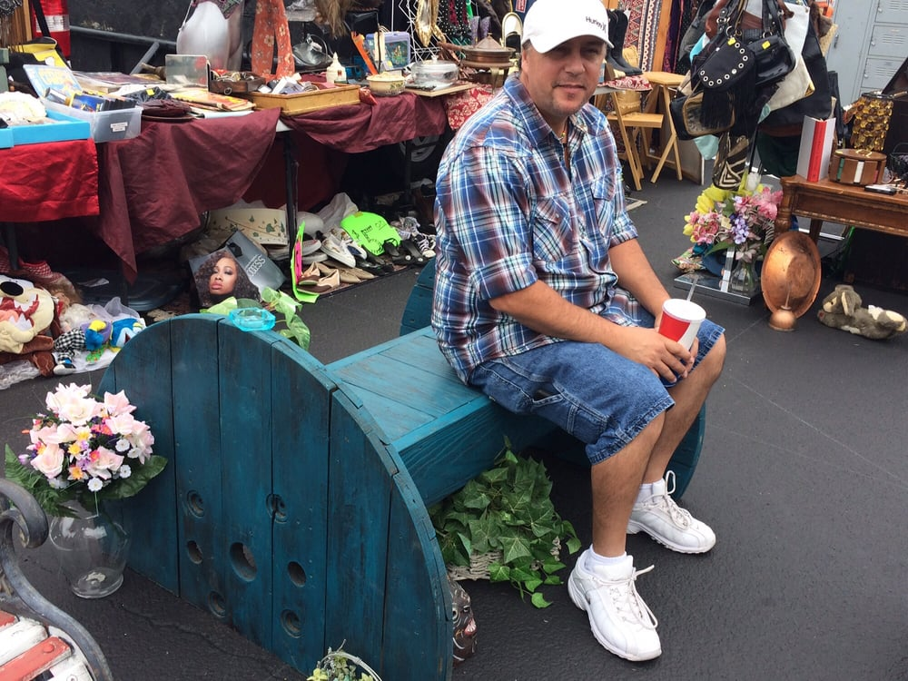 Love this garden bench yelp for Long beach antique market