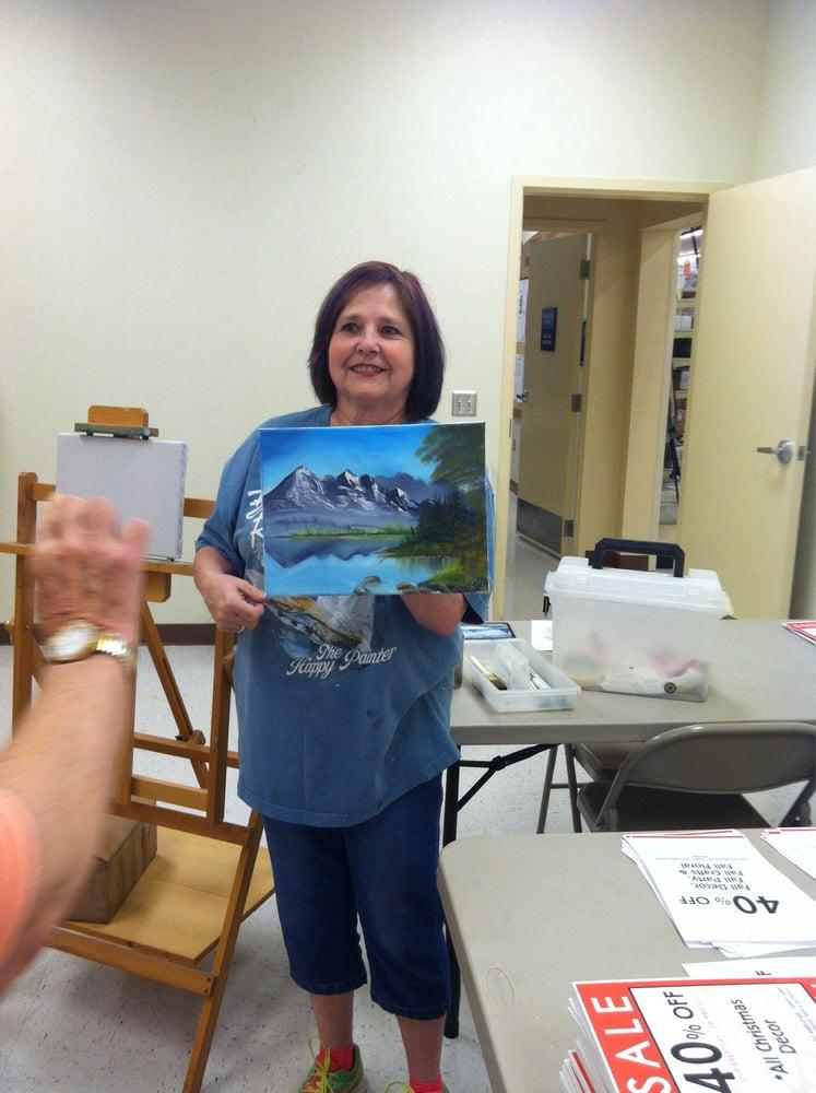 Instructor Linda Gail Teaches Bob Ross Oil Painting Yelp