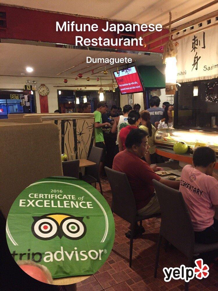 Mifune Japanese Restaurant: Sta. Catalina Street, Dumaguete, NER