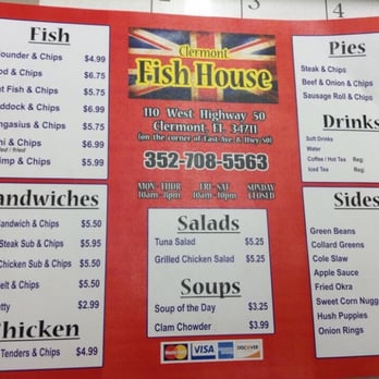 Clermont fish house 62 photos 119 reviews fish for The fish house menu