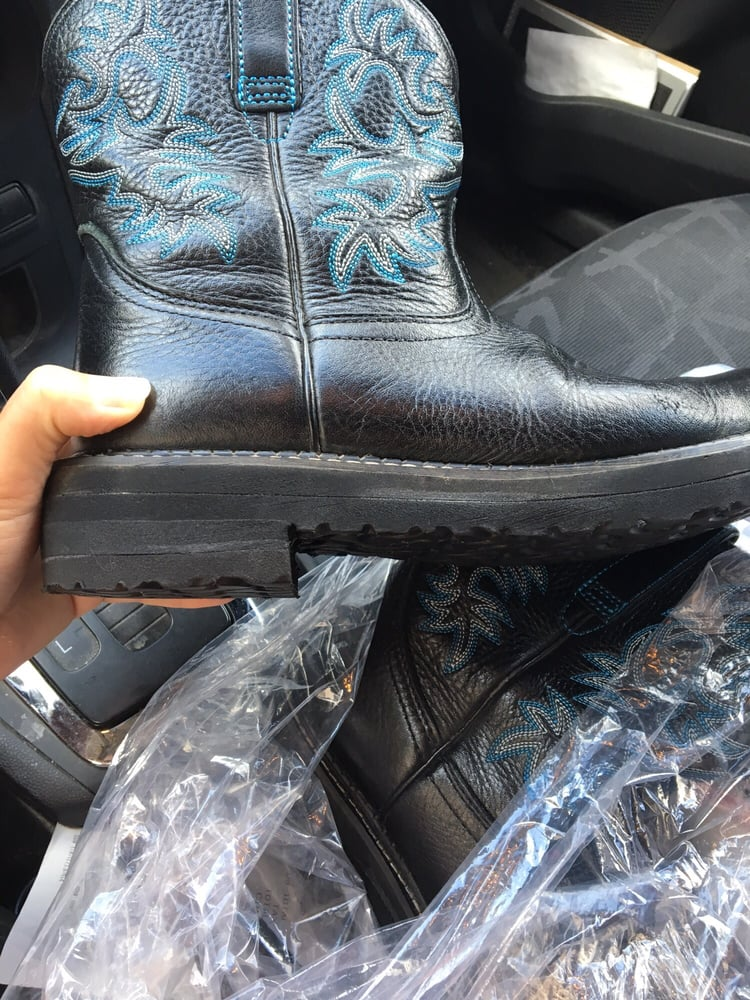 These are my resoled ariat boots. - Yelp