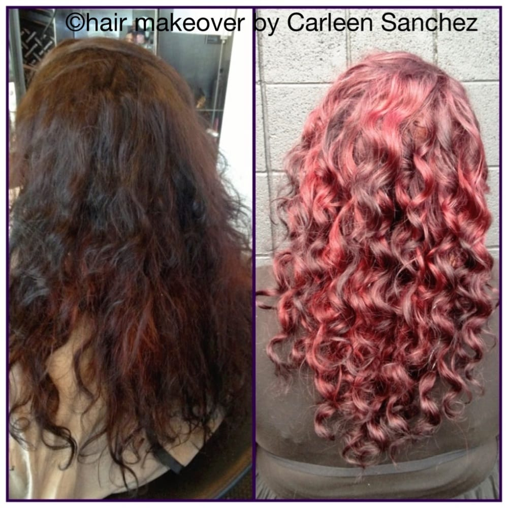 Before And After Conditioning Color Treatment And Deva