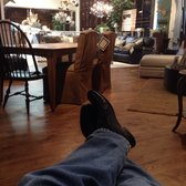 Photo Of Arhaus   Austin, TX, United States. Trying A Leather Recliner.