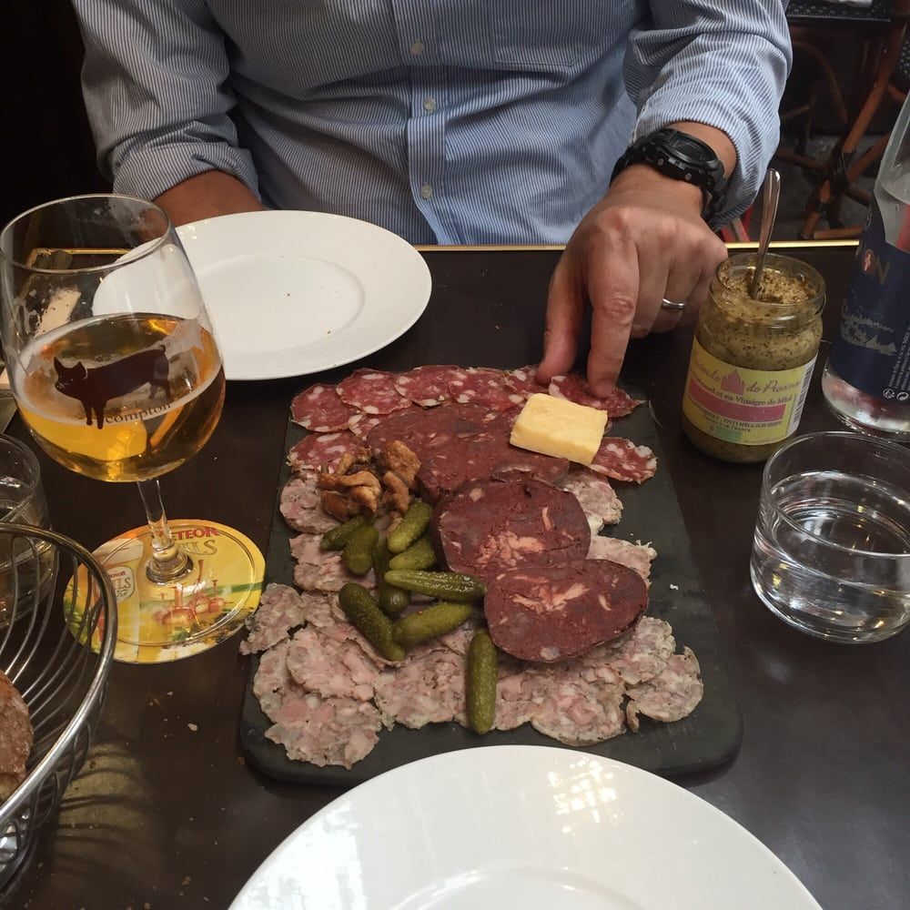 Great sausages and great p t straight from south west of france yelp - Le comptoir du relais restaurant reservations ...