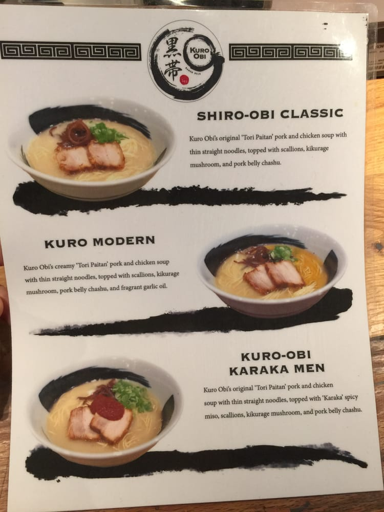 City Kitchen kuro-obi ramen menu - yelp