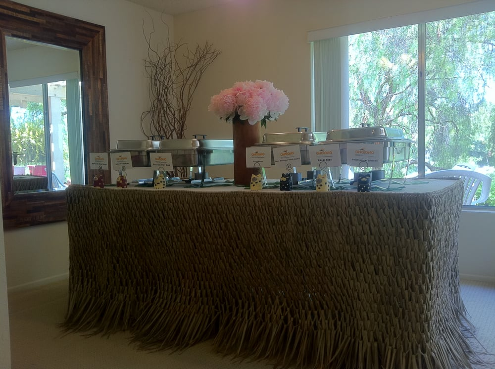 FUNERAL RECEPTION BUFFET TABLE SETUP Yelp - Catering buffet table setup