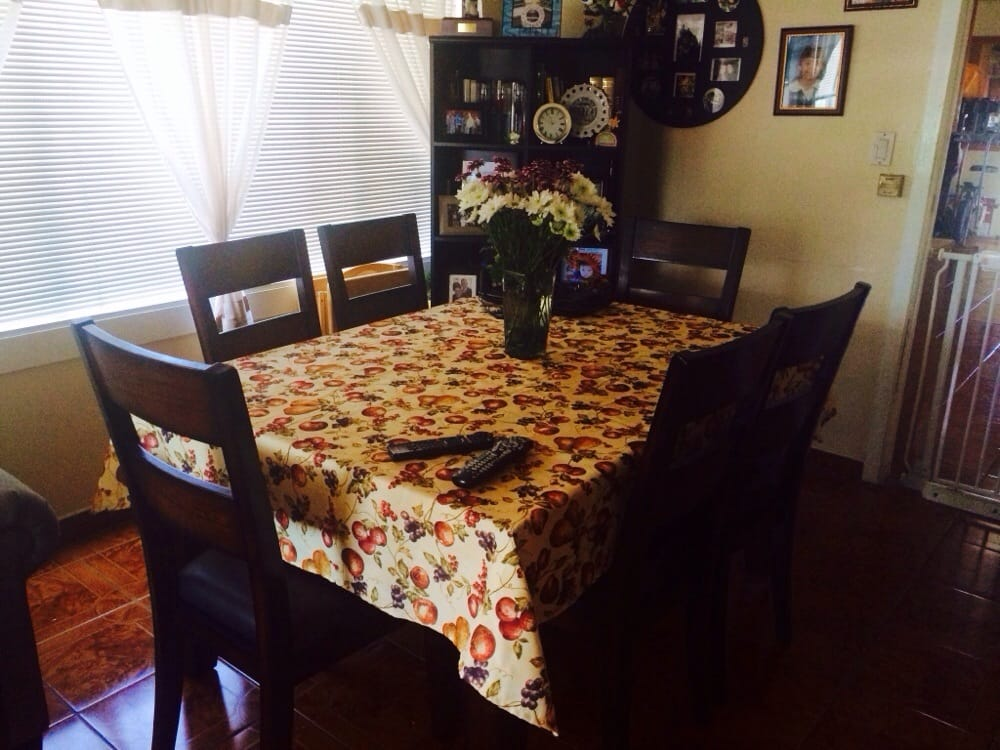 Living Spaces Monrovia : Comes with a middle piece u can remove. Table can get ...