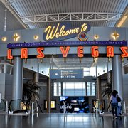 'Photo of McCarran International Airport - Las Vegas, NV, United States. Welcome to Las Vegas!' from the web at 'https://s3-media1.fl.yelpcdn.com/bphoto/o5k_SND713OHzxTJNh5Bow/180s.jpg'