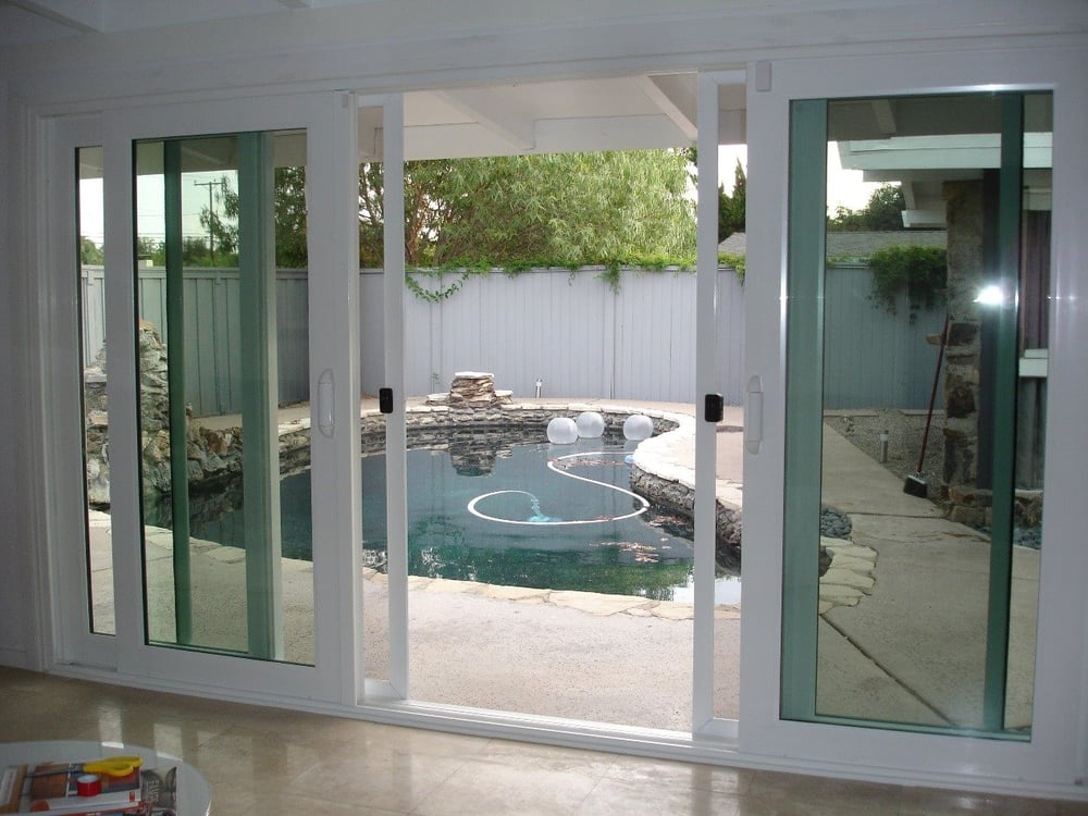 4 panel french slider open position with no grids one for French patio doors both open