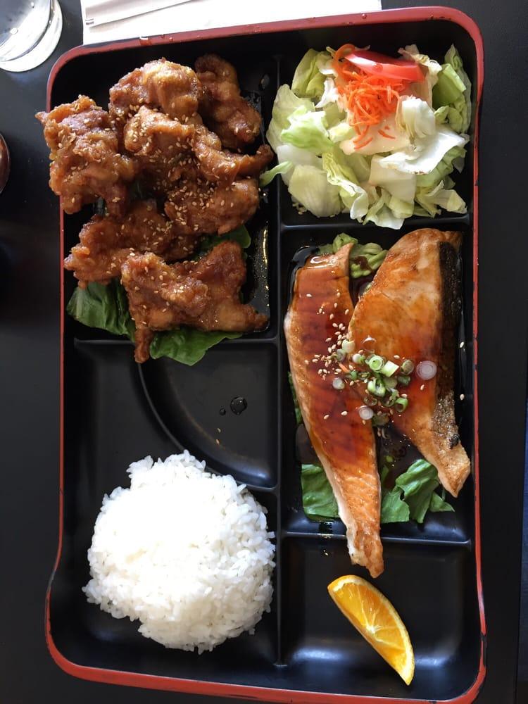 The box teriyaki salmon and sesame chicken yelp for Naked fish hayward