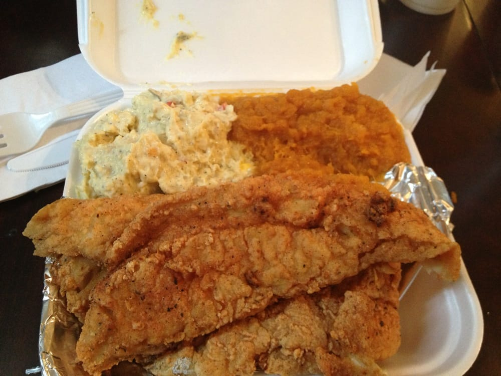 Fried fish potato salad and candied yams so good yelp for Good fried fish near me