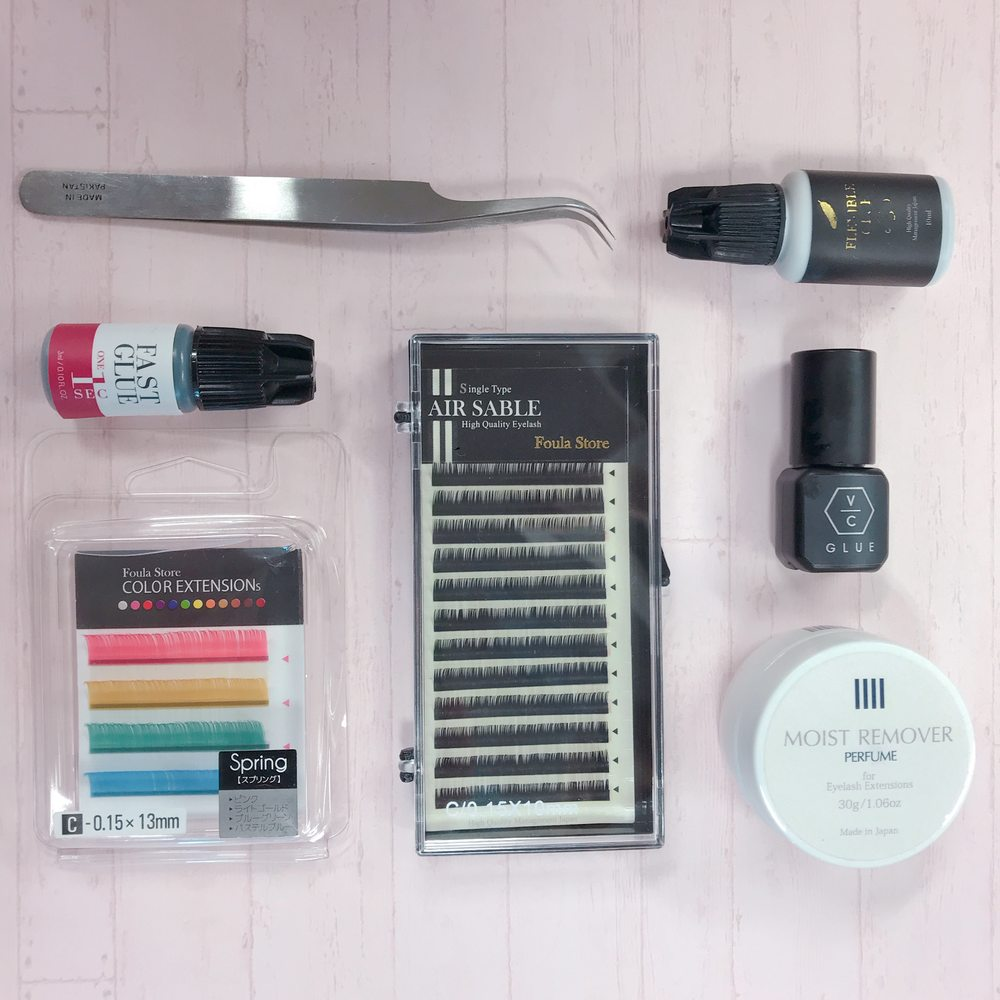 We sell all sorts of eyelash extension products both online