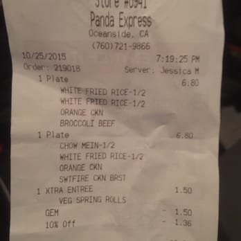 Panda Express Military Discount