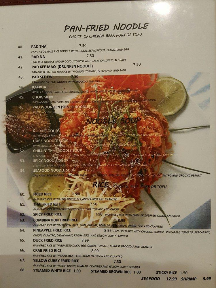 Chillin' Thai Cuisine: 11020 Lower Azusa Rd, El Monte, CA