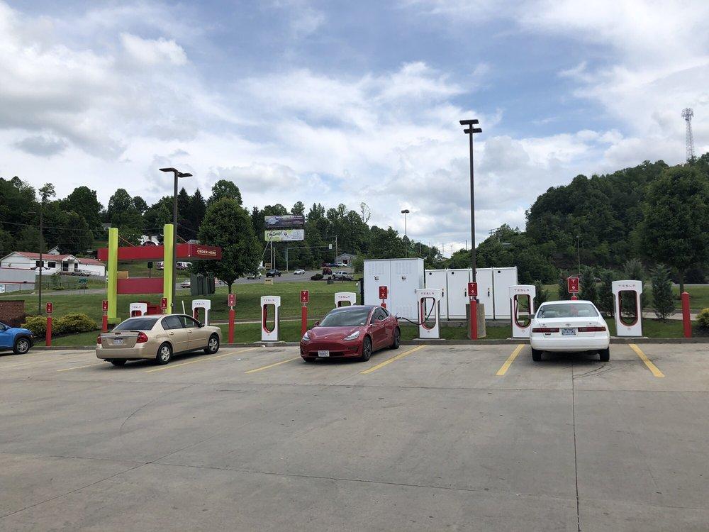 Tesla Supercharger - Mt. Hope: 5481 Robert C. Byrd Dr, Mt. Hope, WV