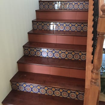 New Stairs Replacing Carpet With Wood And Two Types Of