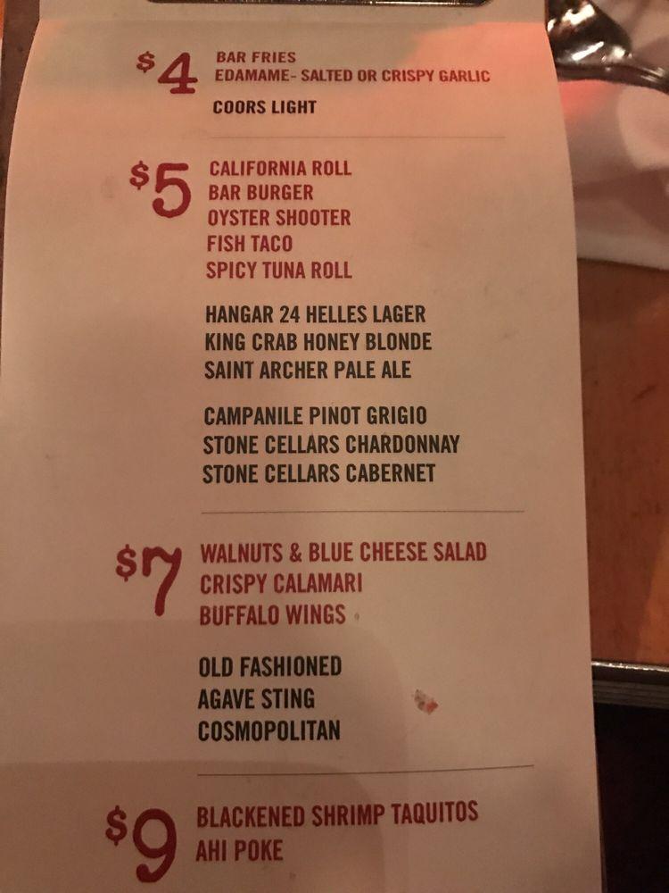Happy hour menu yelp for Fish house menu