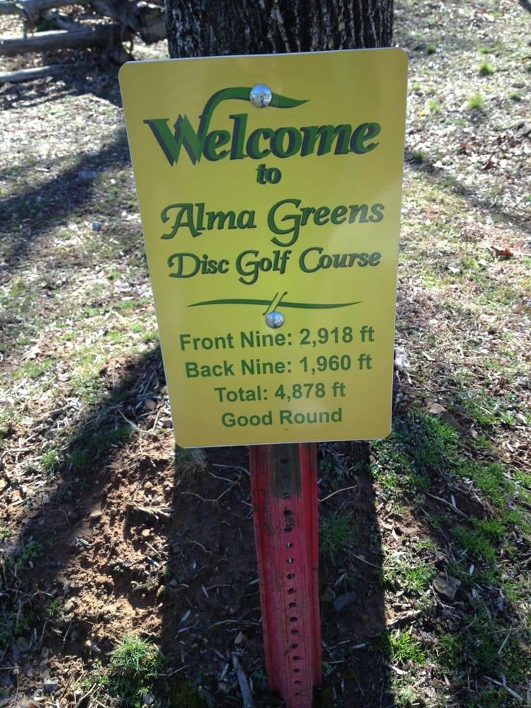 Alma Greens Disc Golf Course: 891-959 N Mountain Grove Rd, Alma, AR