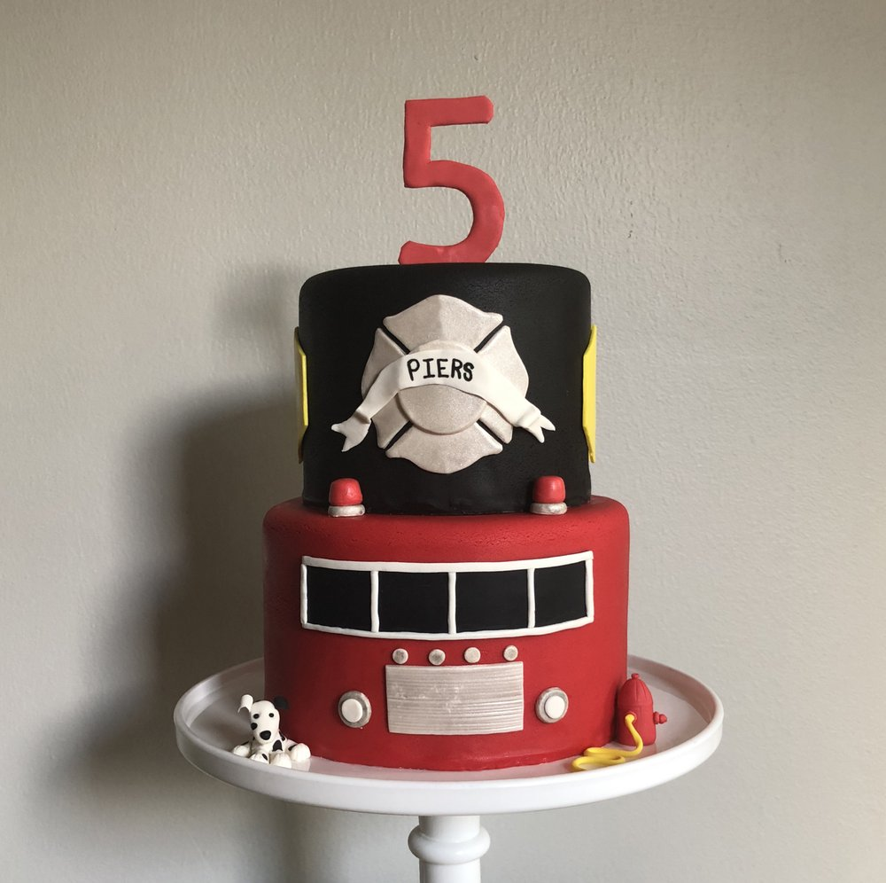 An Epic 5 Years Old Birthday Cake For A Future Fire Fighter Yelp