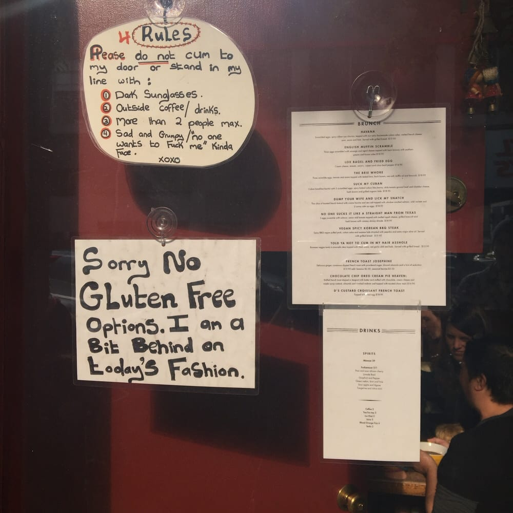 The Menu And The Rules Yelp