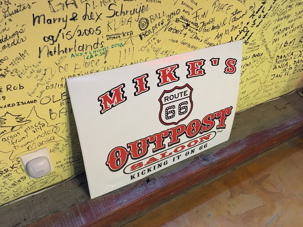 Mike's Route 66 Outpost & Saloon: 9321 Hwy 66 Historic Rte 66 Mile Marker 72, Kingman, AZ