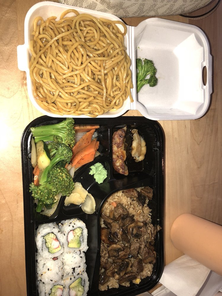 Food from Brady's Sushi & Hibachi