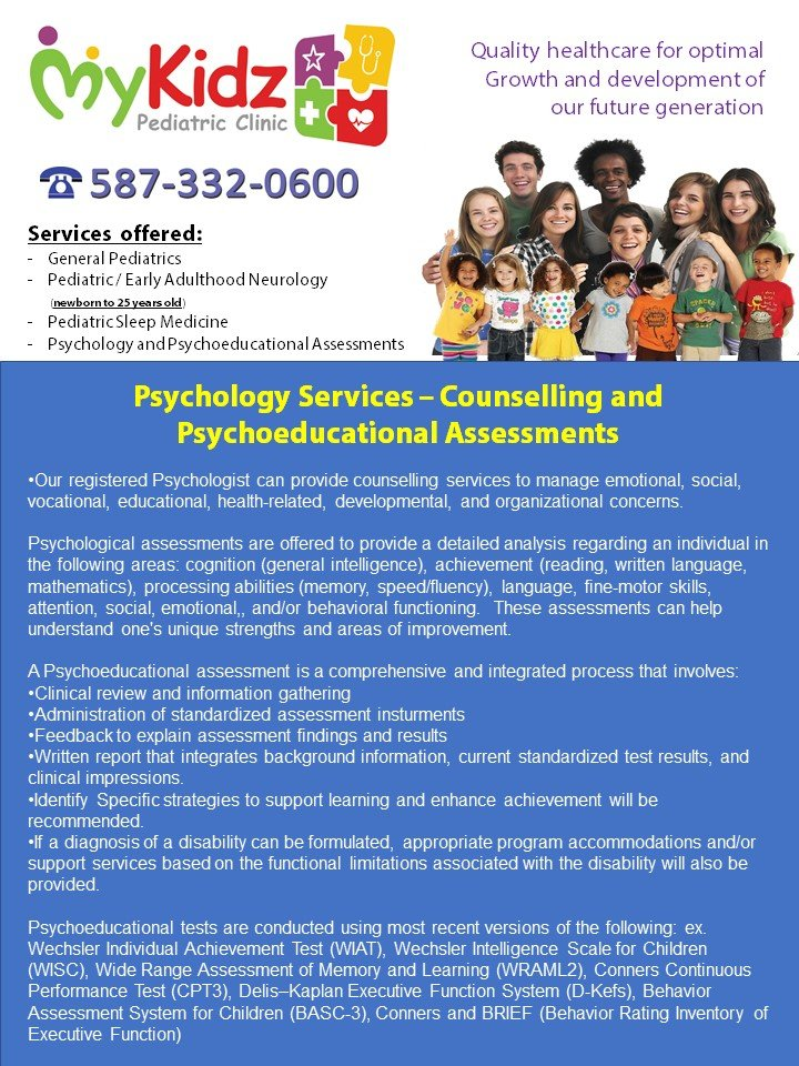 Psycho educational assessments and general counselling services are photo of mykidz pediatric clinic calgary ab canada psycho educational assessments altavistaventures Image collections