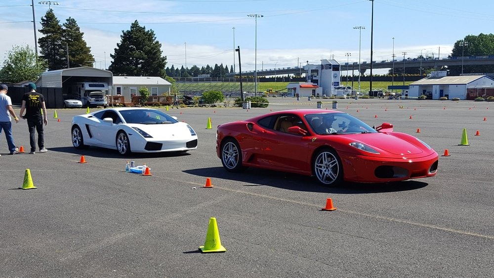 Red Ferrari And White Lamborghini If You Ever Have To Struggle With