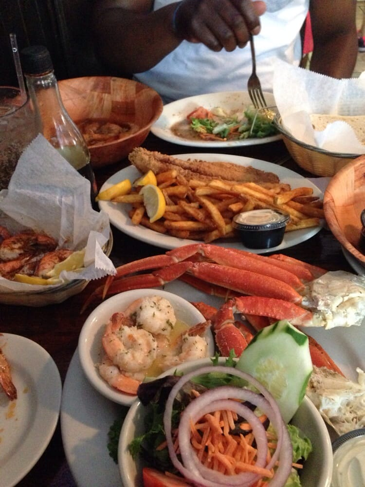 Shrimp and crab legs fish and chips steamed shrimp and for Two fish crab shack