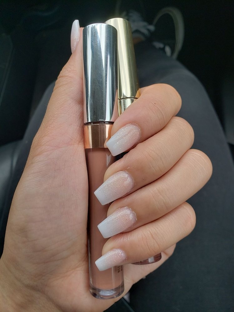 Grad nails by Lam. Ombre w/gold sparkle, his special. So WORTH. Pic ...
