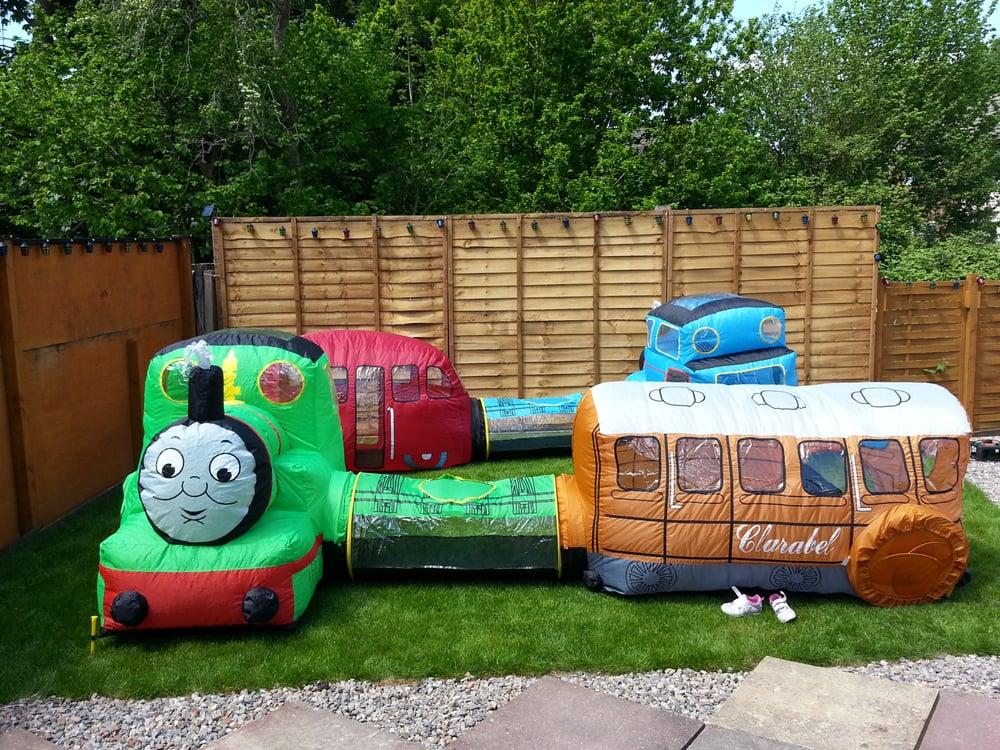 Photo of Rhiannonu0027s Mascots - Cardiff United Kingdom. Thomas the tank engine airflow tent & Thomas the tank engine airflow tent - Yelp
