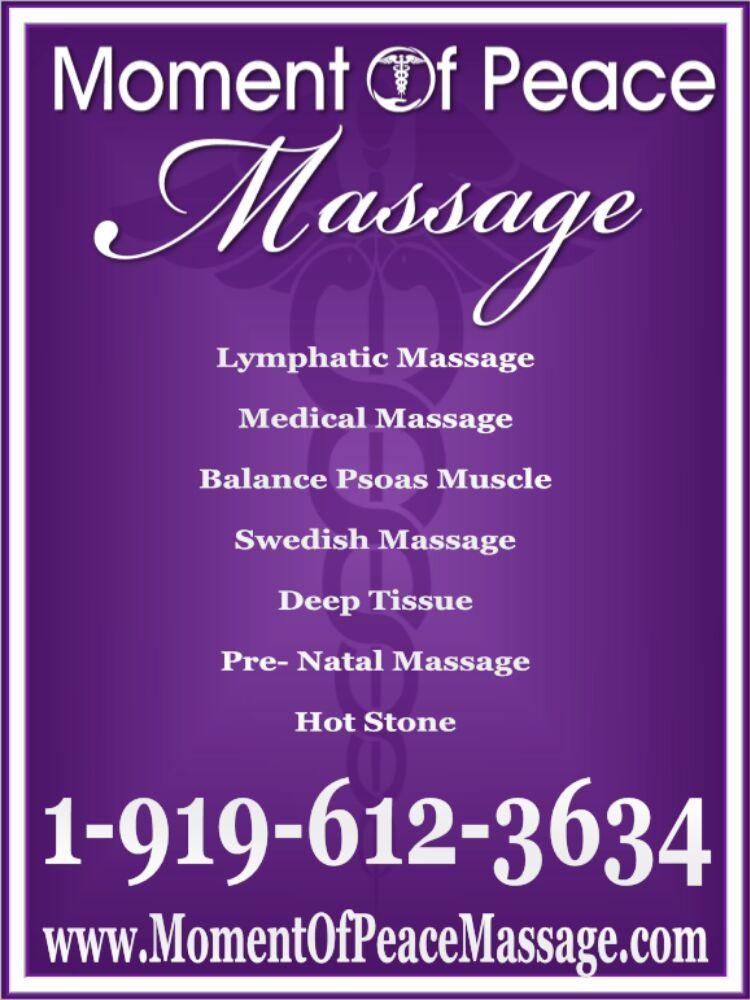 Moment of Peace Massage: 122 N Salem St, Apex, NC