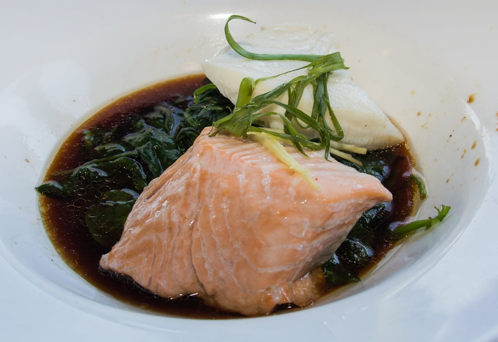 Poached salmon chilean sea bass asian style yelp for Fish market boca raton